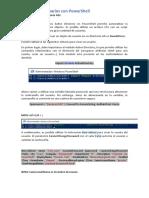 Creación de usuarios con PowerShell