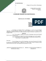 Código de processo ético odontológico - Resolução CFO 59 de 2004