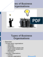 Higher business management - 3 - Types of business organisation
