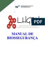 Manual de biossegurança - Laboratório de hemoglobinas e genética das doenças hematológicas - UNESP - campus de São José do