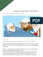 Doa Untuk Kesembuhan Orang Sakit - Islami[dot]co+