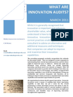 What are innovation audits