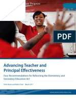 Advancing Teacher and Principal Effectiveness