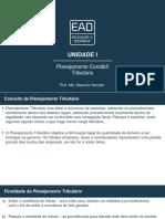 Planejamento Contábil Tributário – Unidade I