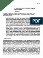Réactivité du laitier de hauts fourneaux d'Annaba (Algérie) en substitution partielle du ciment