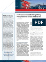 How to Operationalize the Foreign Policy Dialogue Between Ankara and Brussels?