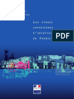 Les Tudes d Architecture en France 20195