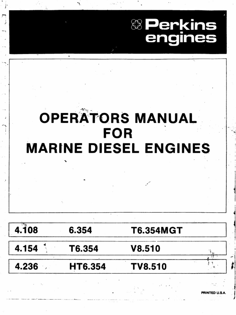 Perkins Operators Manual