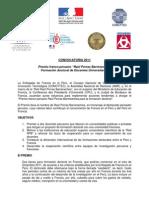 """CONVOCATORIA 2011 Premio franco-peruano """"Raúl Porras Barrenechea"""""""