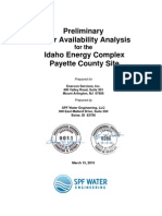 1-Preliminary Water Availability Analysis-SPF Water Engineer