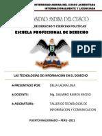 LAS TECNOLOGÍAS DE INFORMACIÓN EN EL DERECHO - DELIA LAURA