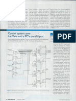 Control system uses LabView and PCs parallel port