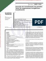 NBR7200 - Execução de Revestimento de Paredes e Tetos de Argamassas Inorgânicas - Procedimentos