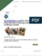 how to make huaraches