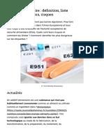 Additif Alimentaire_ Définition, Liste Des Plus Communs, Risques