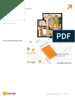ISG Residence IV – schița apartament cu apartament cu 2 camere camere de la 66.95m2 - Korter.ro