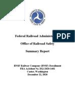 Federal Railroad Administration report on Custer, Washington, train derailment