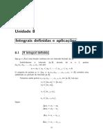 Noções de Cálculo Diferencial_Integrais definidas_8-1_João Carlos Vieira Sampaio