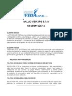 Portafolio de Servicios- Salud Vida IPS