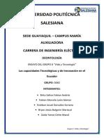 """ENSAYO DEL GRUPO 6 """"Vida y Tecnología"""""""