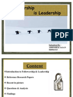 Followership is Leadership