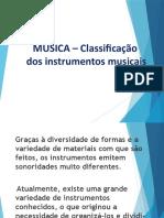 MÚSICA – Classificação de instrumentos musicais