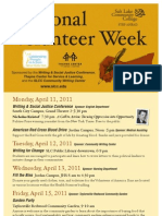 National Volunteer Week Poster