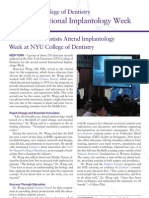 International Dentists Attend Implantology Week at NYU College of Dentistry