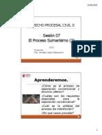 SESION 07 - DERECHO PROCESAL CIVIL II - PROCESO SUMARISIMO PARTE 2 -