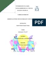 Diferencias Entre Ciencias Formales y Ciencias Empíricas