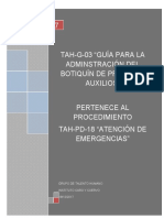 Tah-g-03 Guía Para La Administración Del Botiquín de Primeros Auxilios-V1.0