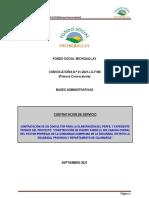 Primera Convocatoria N°021-2021-FSM +TDR puente cancha corral