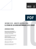 Informe Amnistía Internacional 2010