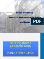 BD01 - Tema 2 - Arquitetura de Banco de Dados - Reforço Aprendizagem