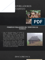 TUTORIA LOS PRIMEROS POBLADORES DE HUANUCO