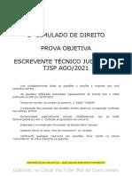 2o Simulado Direito Escrevente Tjsp 2021 (Questão 30 Anulada)