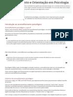 WEB AULA U1- Aconselhamento e Orientação Em Psicologia