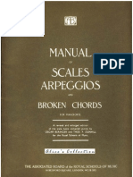 Manual of Scales Arpeggios & Broken Chords [piano] - The Associated Board of the Royal Schools of Music