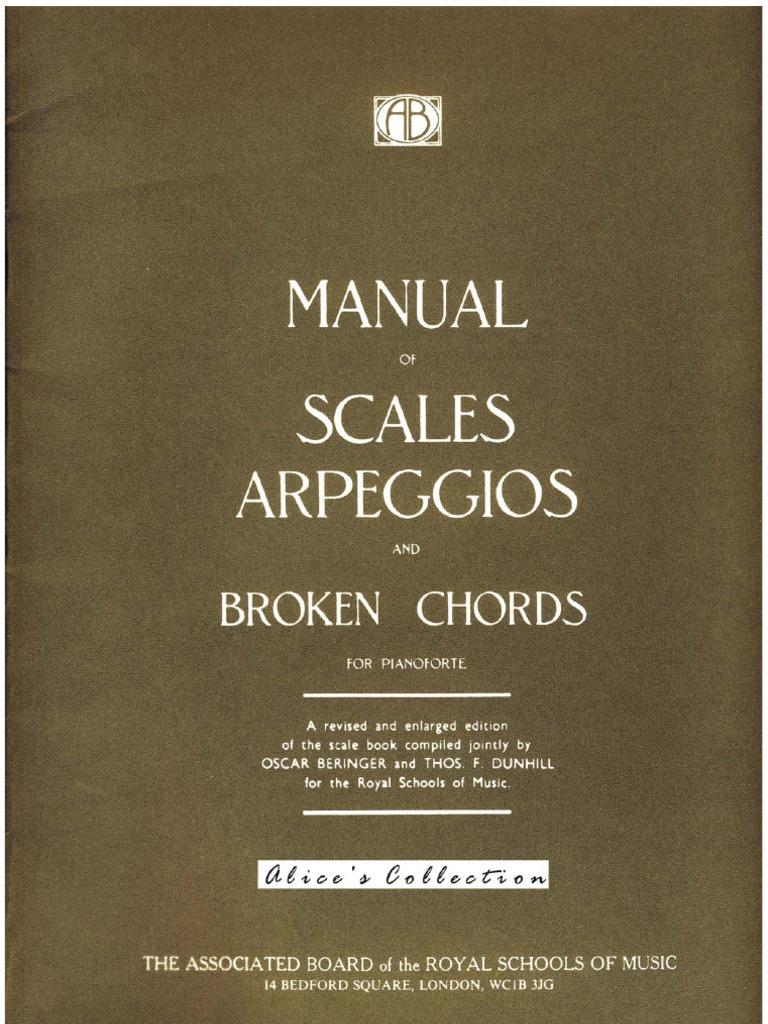 manual of scales arpeggios broken chords piano the associated rh scribd com All Minor Scales for Piano 12 Major Scales for Piano with Fingers
