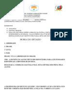 ATIVIDADES  DE QUINTA E SEXTA