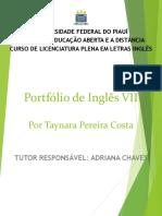 Portfólio de Inglês VII - 2020