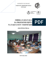 Zbirka Zadataka Na Prijemnom Ispitu FTN