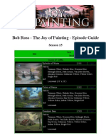 Bob Ross - The Joy Of Painting - Episode Guide S15-S31
