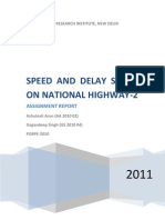 Speed and Delay Study on National Highway