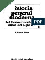Vicens Vives Jaume Historia General Moderna Del Renacimiento a La Crisis Del Siglo XX
