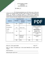 Criterios de evaluación 3°  A