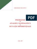 Probleme de Analiza Matematica si Ecuatii Diferentiale