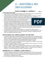 AULA 6 - HISTÓRIA DO JORNALISMO