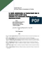 La tutelle administrative sur les communautés d'habitants dans le département du Doubs