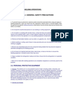 SAFETY PRECAUTIONS IN WELDING OPERATIONS